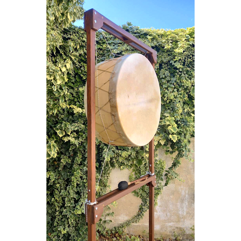 Suspended double skin drum